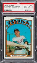 Baseball Cards:Singles (1970-Now), 1972 Topps Harmon Killebrew #51 PSA Gem Mint 10....