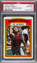 Baseball Cards:Singles (1970-Now), 1972 Topps Johnny Bench IA #434 PSA Gem Mint 10....