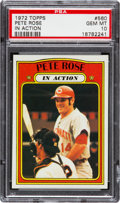 Baseball Cards:Singles (1970-Now), 1972 Topps Pete Rose IA #560 PSA Gem Mint 10....