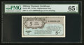 Series 461 5¢ Replacement PMG Gem Uncirculated 65 EPQ