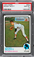 Baseball Cards:Singles (1970-Now), 1973 Topps Mickey Scott #553 PSA Gem Mint 10 - Pop One....