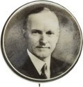 Political:Pinback Buttons (1896-present), Calvin Coolidge: Distinctive Real Photo Picture Pin....