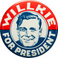 Political:Pinback Buttons (1896-present), Wendell Willkie: Popular Sketch Pin....