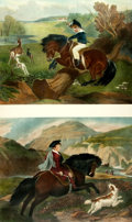 Books:Prints & Leaves, [Sporting Prints]. Pair of Large Lithographic Prints Depicting Horses and Riders. New York: Artistic Picture Publishing Co.,...