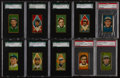 Baseball Cards:Lots, 1911 T205 Gold Borders Graded Collection (10). ...