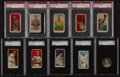 """Baseball Cards:Lots, 1909 - 1911 """"E"""" Candy/Caramel Graded Collection (11). ..."""