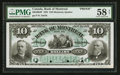 Canadian Currency: , Montreal, PQ- Bank of Montreal $10 Jan. 2, 1891 Ch. # 505-40-04PFace Proof. ...