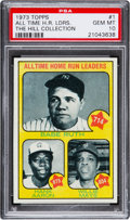 Baseball Cards:Singles (1970-Now), 1973 Topps All Time Home Run Leaders Ruth/Aaron/Mays #1 PSA Gem Mint 10 - Pop One....