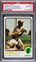 Baseball Cards:Singles (1970-Now), 1973 Topps Roberto Clemente #50 PSA Gem Mint 10....