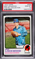 Baseball Cards:Singles (1970-Now), 1973 Topps Skip Lockwood #308 PSA Gem Mint 10 - Pop One....