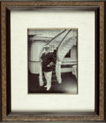 Books:Prints & Leaves, [King Edward VII]. Original Framed Black and White Photo of KingEdward VII on Board the Royal Yacht Victoria and Albert. C...
