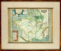 Books:Maps & Atlases, [Maps]. [Abraham Ortelius]. Engraved Map with Hand-ColoringEntitled, Gallia Vetus ad Iulij Cæsaris Commentaria. ...