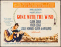 "Movie Posters:Academy Award Winners, Gone with the Wind (MGM, R-1961). Half Sheet (22"" X 28"") Style B. Academy Award Winners.. ..."