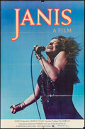 "Movie Posters:Rock and Roll, Janis (Universal, 1975). Full Bleed One Sheet (27"" X 41""). Rock andRoll.. ..."