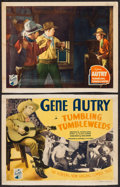 """Movie Posters:Western, Tumbling Tumbleweeds (Republic, 1935). Title Lobby Card & Lobby Card (11"""" X 14""""). Western.. ... (Total: 2 Items)"""