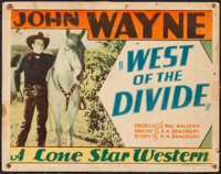 "West of the Divide (Monogram, 1934). Title Lobby Card (11"" X 14""). Western"