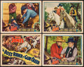 "Movie Posters:Western, The Boss Rider of Gun Creek (Universal, 1936). Title Lobby Card& Lobby Cards (3) (11"" X 14""). Western.. ... (Total: 4 Items)"