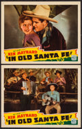"Movie Posters:Western, In Old Santa Fe (Mascot, 1934). Lobby Cards (2) (11"" X 14""). Western.. ... (Total: 2 Items)"