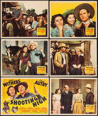 "Shooting High (20th Century Fox, 1940). Trimmed Title Lobby Card & Lobby Cards (5) (11"" X 13.75""). Western..."