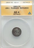 Early Half Dimes, 1800 H10C V-1, LM-1, R.3, -- Repaired, Plugged -- ANACS. Good 4Details. NGC Census: (0/15). PCGS Population (0/4). Mintage...