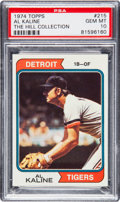 Baseball Cards:Singles (1970-Now), 1974 Topps Al Kaline #215 PSA Gem Mint 10 - Pop Two....