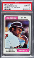 Baseball Cards:Singles (1970-Now), 1974 Topps Frank Robinson #55 PSA Gem Mint 10 - Pop Four....