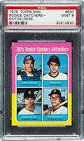 Baseball Cards:Singles (1970-Now), 1975 Topps Mini Rookie Catchers Gary Carter #620 PSA Mint 9....