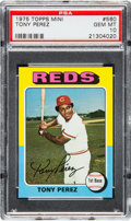 Baseball Cards:Singles (1970-Now), 1975 Topps Mini Tony Perez #560 PSA Gem Mint 10....