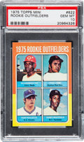 Baseball Cards:Singles (1970-Now), 1975 Topps Mini Rookie Outfielders Fred Lynn #622 PSA Gem Mint10....