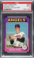 Baseball Cards:Singles (1970-Now), 1975 Topps Mini Nolan Ryan #500 PSA Mint 9....