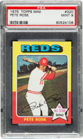 Baseball Cards:Singles (1970-Now), 1975 Topps Mini Pete Rose #320 PSA Mint 9....