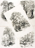Books:Prints & Leaves, [Trees]. Group of Five Engraved Prints Depicting Various Tree Species, after Designs by George Barnard. London: Winsor & New...