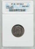 Bust Dimes, 1821 10C Large Date -- Cleaned -- ANACS. XF40 Details. NGC Census:(10/144). PCGS Population (25/159). Mintage: 1,186,512. ...