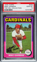 Baseball Cards:Singles (1970-Now), 1975 Topps Mike Garman #584 PSA Gem Mint 10 - Pop One....
