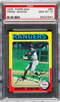 Baseball Cards:Singles (1970-Now), 1975 Topps Mini Fergie Jenkins #60 PSA Gem Mint 10 - Pop Three. ...