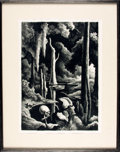 Books:Prints & Leaves, [Featured Lot]. Thomas Hart Benton. SIGNED/LIMITED. Framed LimitedEdition Lithograph Print Entitled, Swampland. ...