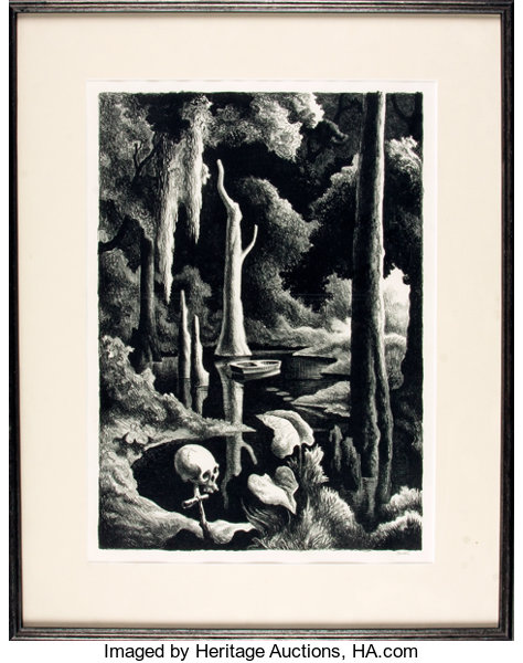 featured lot]. thomas hart benton. signed/limited. framed | lot ...