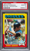 Baseball Cards:Singles (1970-Now), 1975 Topps Brooks Robinson #50 PSA Gem Mint 10 - Pop Four....