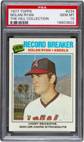 Baseball Cards:Singles (1970-Now), 1977 Topps Nolan Ryan Record Breaker #234 PSA Gem Mint 10 - Pop Four....