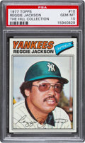Baseball Cards:Singles (1970-Now), 1977 Topps Reggie Jackson #10 PSA Gem Mint 10....