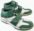 Basketball Collectibles:Others, Dino Radja Game Worn, Signed Sneakers....