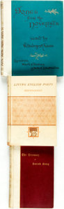 Books:Literature Pre-1900, [Nineteenth Century Poetry]. Group of Three Books. Various publishers and dates. ... (Total: 3 Items)