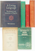 Books:Reference & Bibliography, [Language Studies]. Group of Six Books. Various publishers anddates. ... (Total: 6 Items)