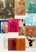 Miscellaneous:Catalogs, [Victorian and Pre-Raphaelite Art]. Group of Thirteen ExhibitionCatalogs from Maas Gallery, London. Circa 1961-1989. ... (Total: 13Items)
