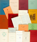 Miscellaneous:Booklets, [Booklets]. Group of Eighteen Related to Book Collecting. Various publishers and dates....
