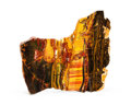 Lapidary Art:Carvings, TIGER'S EYE SLAB. Mount Brockman Station. Pilbara, WesternAustralia. 9.92 x 8.66 x 0.37 inches (25.2 x 22 x 0.94 cm). ...
