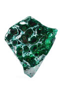 Lapidary Art:Carvings, POLISHED MALACHITE. Kolwezi, Katanga. Republic of Congo. 7.36 x6.69 x 1.62 inches (18.7 x 17 x 4.14 cm). ...