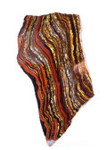 Lapidary Art:Carvings, TIGER IRON SLAB. Ord Ranges. Pilbara. Western Australia. 14.9 x7.28 x 0.49 x inches (38 x18.5 x 1.26 cm). ...