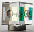 Post-War & Contemporary, Jack Storms (American, b. 1970). Chroma Cube, 2006. Opticallead glass, dichroic glass, aluminum swivel base. 4-5/8 x 4-...(Total: 2 Items)