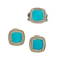 Estate Jewelry:Suites, Turquoise, Diamond, Sterling Silver Jewelry Suite, David Yurman.... (Total: 2 Items)